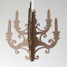 cardboard chandelier cut outs