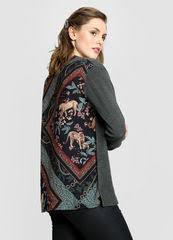 Купить <b>Джемпер</b> женский с <b>принтованной текстильной</b> вставкой ...