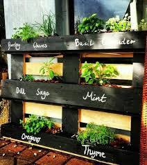 lovely pallet herb garden