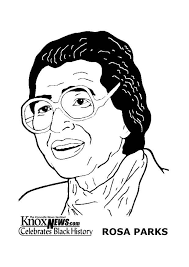 Small Picture Coloring page Rosa Parks img 13342