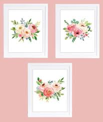 set of 3 prints floral nursery prints printable art 8 x 10  on floral wall art nursery with 25 best evelyn june s nursery images on pinterest crib bedding