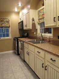 image of vintage distressed kitchen cabinets