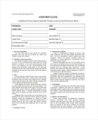 Apartment Lease Template 7 Free Word Pdf Documents Download