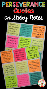 Perseverance Quotes On Sticky Notes Kirstens Teachers Pay