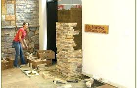 faux stone panels home depot rock exterior interior river stacked