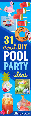 diy pool party ideas easy decor ideas for pools best pool floats coolers