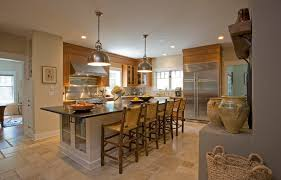 ceramic tile kitchen design. example of a large mountain style l-shaped ceramic floor enclosed kitchen design in new tile s