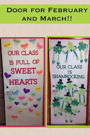Valentine Door Decoration Ideas Classroom Door Ideas For Valentines Day And St Patricks Day My