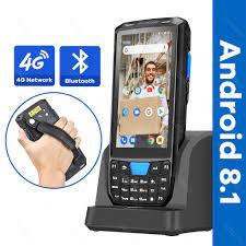 PDA el Android 8.1 POS terminali dokunmatik ekran 1D 2D QR barkod okuyucu  okuyucu kablosuz Wifi Bluetooth GPS 4G veri toplayıcı|Scanners