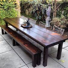 rustic outdoor furniture dining table
