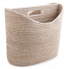 Rattan Magazine Holder Magazine holder made from rattan with white color Viettime Craft 1