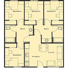 Small Picture Small 4 bedroom House Plans Free Home Future Students Current