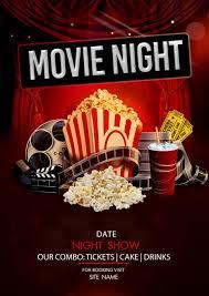 Free Movie Night Flyer Templates 008 Movie Night Psd Flyer Template Free Min Unusual Ideas