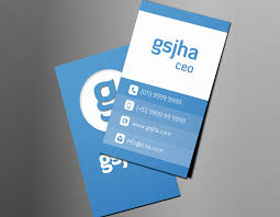 Clean Vertical Business Card Gsjha