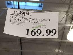 costco 1049041 muskoka 42 curved wall mount electric