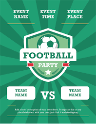 flyer for an event football party flyer international