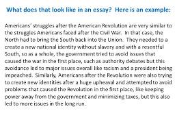 dbq reteach apush ppt  what does that look like in an essay here is an example