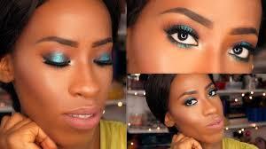 holiday makeup tutorial for black women mermaid eyes lips you