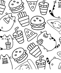 Free Pusheen Cat Coloring Pages 67 Drawings Kid Colorings