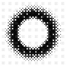 Halftone circle design Royalty Free Vector Clip Art Image
