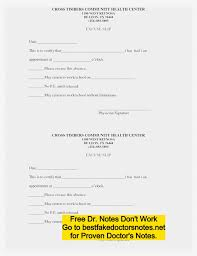 A Blank Doctors Note Fake Doctors Note Template For Work Or School Pdf