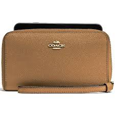 Coach Phone Wallet Light Saddle Brown   F58053
