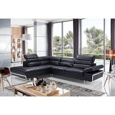 2347 leather sectional chaise lounge with storage compartment