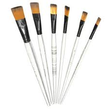 best promotion 6pcs artist transpa handle paint brush set artist nylon oil painting brushes art painting supplies in paint brushes from office school