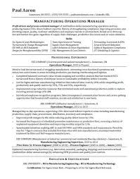 Operations Manager Resume Sample Monster Com