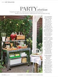 Small Picture Party Station from Better Homes and Gardens June 2017 Read it