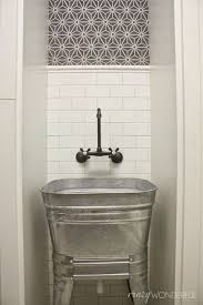 Bathroom Utility Sink Impressive Galvanized Wash Tub Laundry Room Sink Laundry And Mudroom Ideas