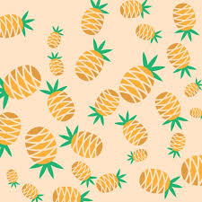 Pineapple Pattern Fascinating Pineapple Pattern Background Vector Free Download