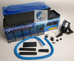 Vipsun Fish VS-10800 - Bộ Máng và Máy Bơm Lọc Nước Hồ Cá - Có bông lọc