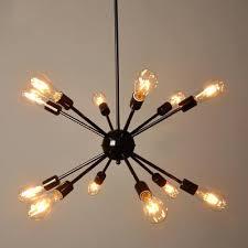 edison bulb chandelier industrial in vintage loft style black exterior house design diy