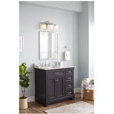 allen + roth Roveland Gray 36-in Undermount Single Sink Birch ...