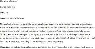 ask for a raise letter letter to ask for a salary raise