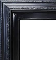 black wood frame. 3 Inch Wide Deluxe Pine Frame Black Wood F