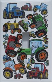 Tractor Light Switch Cover Presto Wall Decals Farm Tractor Light Switch Plates Covers Single Toggle