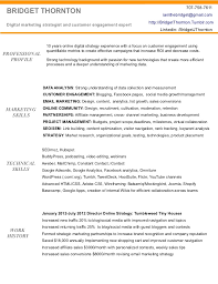 Digital Marketing Resume of Bridget Thornton. 707-758-7611 BRIDGET THORNTON  ...