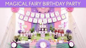 Fairy Themed First Birthday Party Unicorn Cake Tinkerbell Ideas