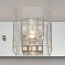Artika 4 Light Crystal Cube Wall Modern Fixture Artika Light Fixture 31 In 4 Light Bed Bath Crystal Cube Chrome Modern Finish