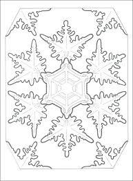 Snowflake Mandala Coloring Pages At Getdrawingscom Free For