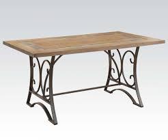 black wood rectangular dining table. Acme Furniture Kiele Dining Table In Oak And Antique Black 71125 Wood Rectangular Y