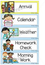 Scholastic Daily Schedule Pocket Chart Editable Daily Schedule Pocket Chart Visual Timetable