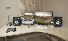 laptop office desk. Brilliant Laptop Ordinary Laptop Desk Setup  Monitor  IKnowLco Intended Office L