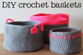 Free Crochet Basket Patterns Best Free Crochet Pattern For Set Of Neon Touch Baskets ENGNL