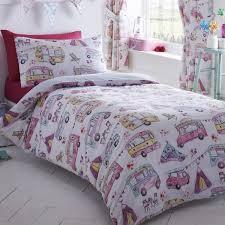 girls single duvet cover sets bedding unicorn flower horse heart