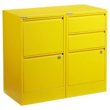 Yellow File Cabinets · Bisley 3-Drawer 2- \u0026 Locking Filing | The Container