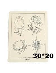 Trénovací Tetovací Kůže Vzor Růže Větší 30 X 20 Cm