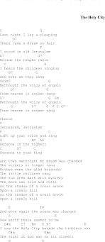 God Of This City Chord Chart The Holy City Christian Gospel Song Lyrics And Chords
